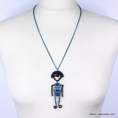 collier 0113638 bleu