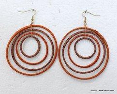 boucles d'oreille 38111 orange