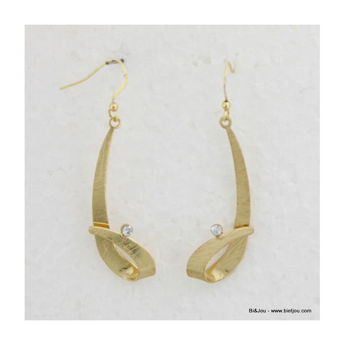 Boucles d'oreille chics et vintages avec cristal