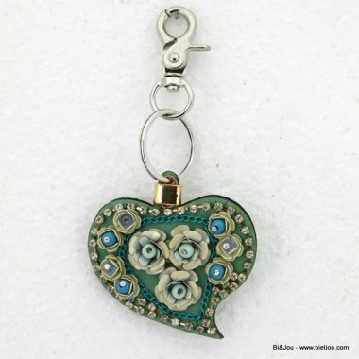 bijou de sac - porte-clés 0814014 coeur